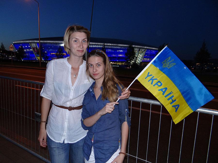 S najmladšou sestrou v rodnom meste Doneck.