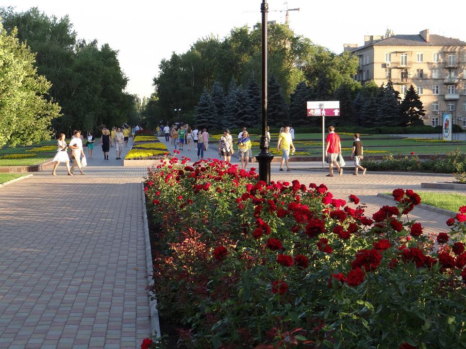 Pokojná atmosféra v meste Donetsk, roku 2012.