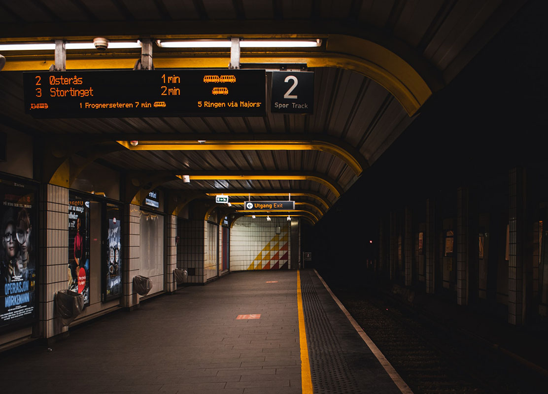 Prázdne metro v Oslo